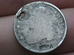 1828 1837 SILVER CAPPED BUST DIME  HOLED