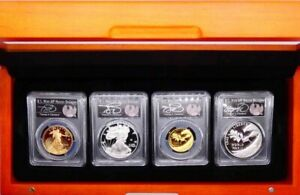 Click now to see the BUY IT NOW Price! 2020W PCGS V75PRIVY4 COIN SLATEPROOF70 FDOI CLEVELAND $50 $25 $1ASE MEDAL