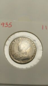 1935 KING GEORGE V 5 CENT NICKEL COIN OLD CANADA MAPLE LEAF   11