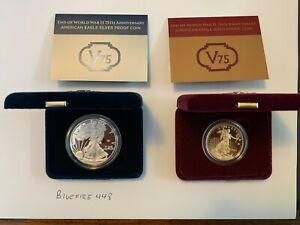 Click now to see the BUY IT NOW Price! END OF WORLD WAR II 75TH ANNIVERSARY GOLD PROOF   SILVER PROOF SET   2020