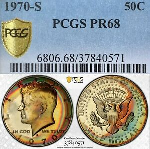 Click now to see the BUY IT NOW Price! 1970 S PROOF KENNEDY HALF DOLLAR PCGS PR68 MONSTER TONER