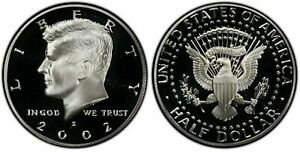 2002 S PROOF KENNEDY CLAD HALF DOLLAR   DEEP CAMEO PROOF FROM THE PROOF SET