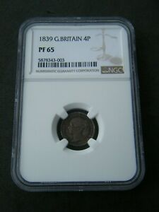 Click now to see the BUY IT NOW Price!  1839 PROOF GROAT FOURPENCE 4D   NGC PF65   GREAT BRITAIN VICTORIA