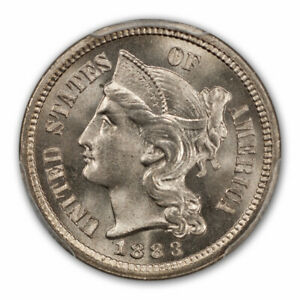 Click now to see the BUY IT NOW Price! 1883 3CN THREE CENT NICKEL PCGS MS65  CAC