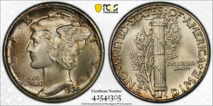 Click now to see the BUY IT NOW Price! 1934 PCGS MS67 FB FULL BANDS MERCURY DIME