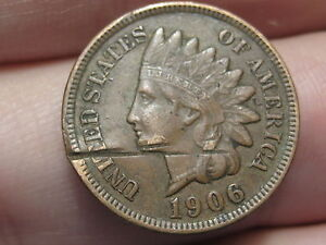 1906 INDIAN HEAD CENT PENNY XF DETAILS DIAMONDS FULL LIBERTY
