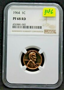 1964 PROOF LINCOLN 1 CENT NGC PR68RD