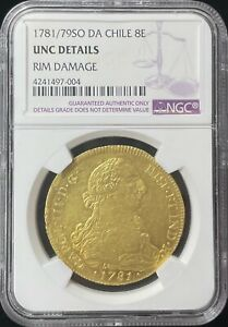 Click now to see the BUY IT NOW Price! CHILE 8 ESCUDOS 1781 /79 SO DA GOLD COIN NGC UNC DETAILS
