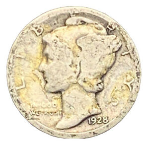 1928 D MERCURY DIME  G  SILVER | EXACT COIN PICTURED |  7024