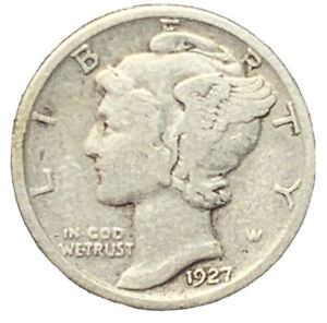 1927 P MERCURY DIME SILVER FINE | EXACT COIN PICTURED |  7230