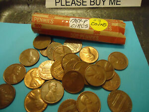 1969 ROLL OF LINCOLN CENTS