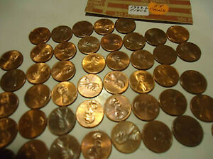 1993 D LINCOLN CENT ROLL        55 COINS        >> S & H   C/S <<