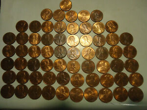 1996 D LINCOLN CENT ROLL        61 COINS        >> S & H   C/S <<