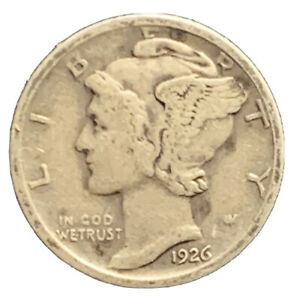 1926 D MERCURY DIME FINE SILVER | EXACT COIN PICTURED |   7278
