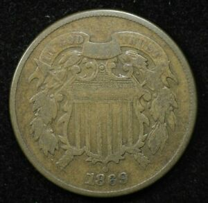 1869 2 CENT COIN