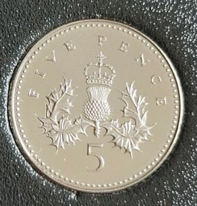 1999 PROOF FIVE PENCE COIN CAPSULED 5P COIN HOUSED IN A SLEEVE  FREE POSTAGE