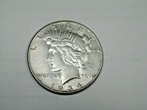 1934 PEACE $1 CHOICE AU/UNC ORIGINAL BETTER DATE THIS IS COIN YOU WILL GET