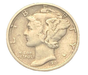 1941 S MERCURY DIME XF EXACT COIN PICTURED |   7415