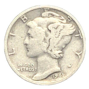 1941 S MERCURY DIME VG EXACT COIN PICTURED |   7418