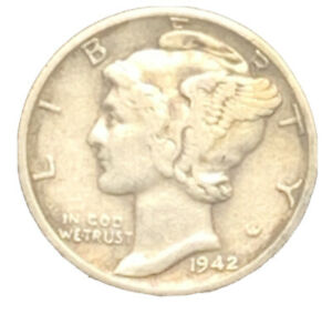 1942 D XF MERCURY DIME EXACT COIN PICTURED |    7423