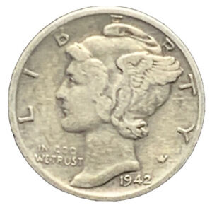 1942 S VF MERCURY DIME FINE EXACT COIN PICTURED |   7424