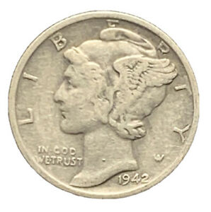 1942 S VF MERCURY DIME FINE EXACT COIN PICTURED |   7426