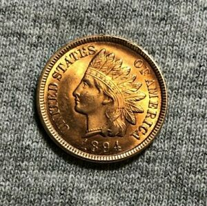 1894  INDIAN HEAD PENNY CENT   UNCIRCULATED RED