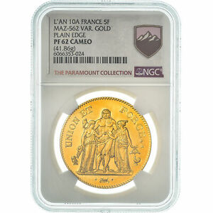Click now to see the BUY IT NOW Price! [475197] COIN FRANCE UNION ET FORCE 5 FRANCS AN 10 PARIS NGC PF62 CAMEO