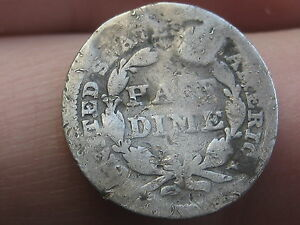 1843 SEATED LIBERTY HALF DIME  OLD TYPE COIN
