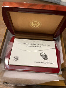 2015 W OGP FIRST SPOUSE GOLD UNCIRCULATED $10  JACQUELINE KENNEDY BOX   NO COIN