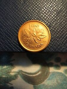 2006 CANADA ONE CENT CIRCULATED CANADIAN COIN NON MAGNETIC