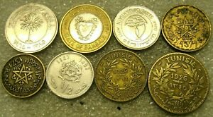 COIN ISLAMIC COUNTRIES LOT OF 8 COINS 1.42 OZ