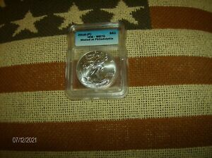 2016  P  ICG MS70 SILVER EAGLE MINTED AT PHILI   COIN PICTURED IS COIN RECEIVED