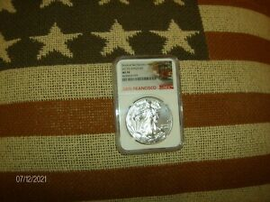 2017 S  NGC MS70 SILVER EAGLE TROLLEY LBL  COIN PICTURED IS COIN RECEIVED