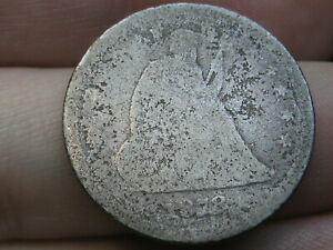 1878 SILVER SEATED LIBERTY QUARTER  POSSIBLE S OR CC COIN?