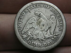 1855 S SILVER SEATED LIBERTY QUARTER  WITH ARROWS