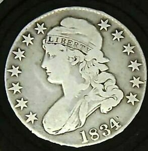 1834 CAPPED BUST 50 CENTS 1192