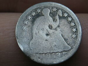 1853 SEATED LIBERTY HALF DIME  WITH ARROWS ABOUT GOOD DETAILS