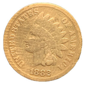 1882 INDIAN HEAD CENT IHC KEY DATE COIN 1C  DETAILS |   8619