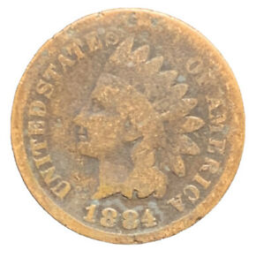 1884 G INDIAN HEAD CENT PENNY EXACT COIN   8623