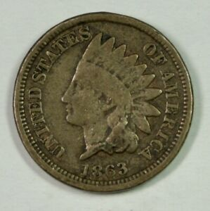 1863 INDIAN CENT  MINT ERROR  180 DEGREE ROTATION REVERSE  MEDAL ALIGNMENT