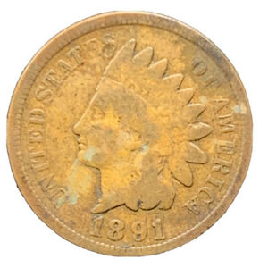 1891 VG INDIAN HEAD CENT EXACT COIN |  8636