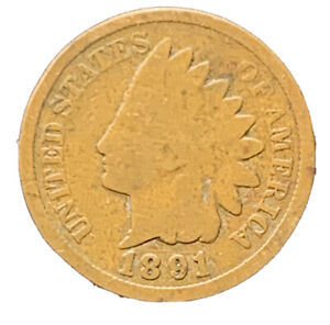 1891 US INDIAN HEAD CENT PENNY  | EXACT COIN |    8643