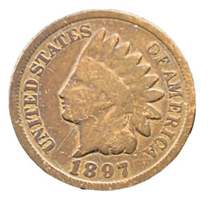 1897 P INDIAN HEAD CENT PENNY EXACT COIN   8647