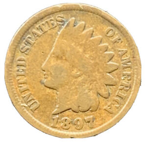 1897 P INDIAN HEAD CENT PENNY EXACT COIN   8648