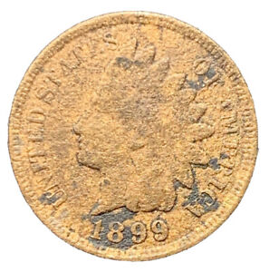 1899 POOR CONDITION INDIAN HEAD SMALL CENT EXACT COIN     8650