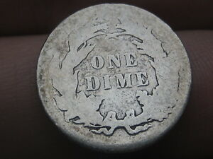 1884 SEATED LIBERTY SILVER DIME  GOOD DETAILS