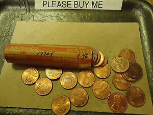 1995 P ROLL OF CIRCULATED LINCOLN CENTS    >> C/S & H AVAILABLE <<