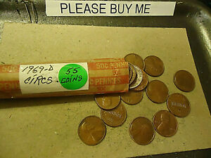 1969 D LINCOLN CENT ROLL          S&H C/S