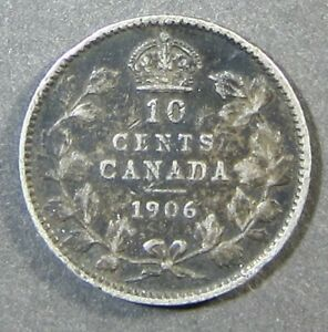 CANADA 10 CENTS 1906 F  467